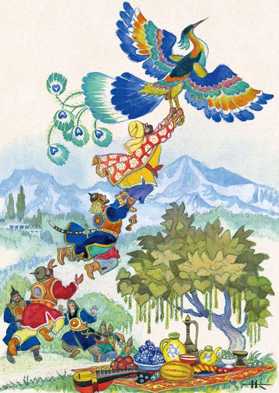 Рисунки птиц к сказкам